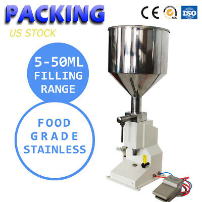 A02  5-50ml Semi-auto Pneumatic Liquid Filling Machine for Cream Cosmetic Filler