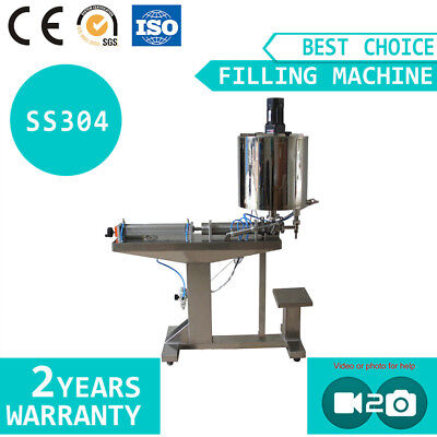 Honey Paste Piston Filling Machine with Mixing Heating Function Standing Type
