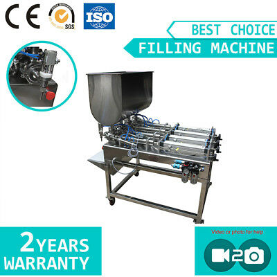 Liquid Paste Filling Machine with Four Nozzles for Lotion Shampoo Cream