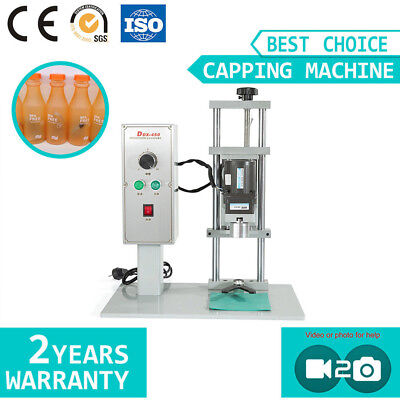 Desktop Electric Bottle Capping Machine for Round Caps Plastic/Glass Bottle Seal