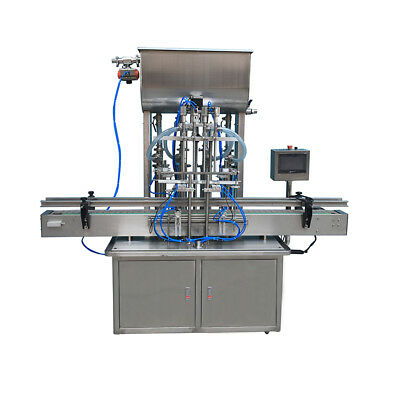 4 Nozzles Automatic Paste Filling Machine For Fill Cosmetic Creams Heavy Sauces