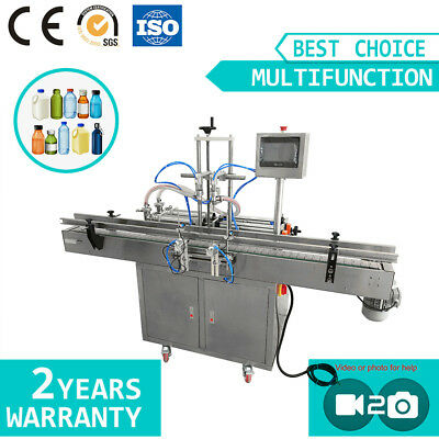 Two Nozzles Automatic Liquid Filling Machine With Conveyor Oil Filling Machine