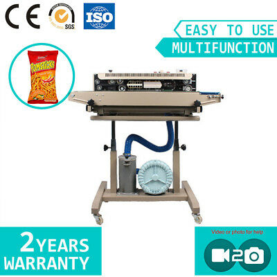 Vertical Plastic Film Inflatable Food Sealing Machine Sealer With Printer