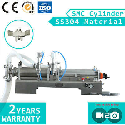 2 Nozzles SMC Cylinder Pneumatic Juice Water Filling Machine 100-1000ml