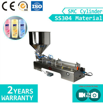 SMC Cylinder Paste Filling Machine Shampoo Cream Filler Piston Filling Machine