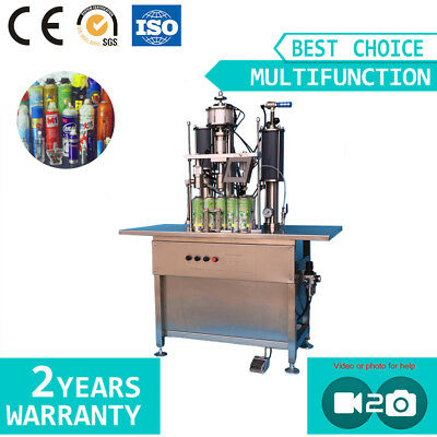 Semi-auto 3in1 Metal Aerosol Can Capping Filling Packing Machine