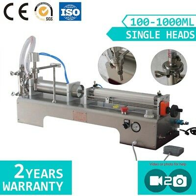 Single Nozzle Semi-auto JuiceFilling Machine with Foot Pedal Filler SMC Cylinder