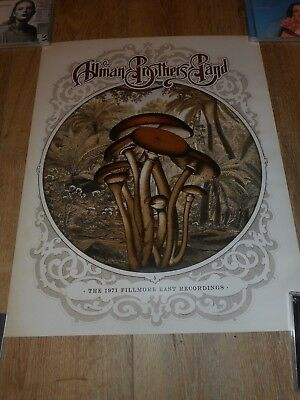 The Allman Brothers - The 1971 Filmore East Recordings- Original Rr Promo Poster