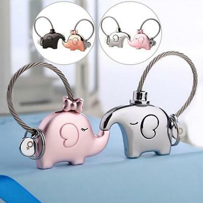 Elephant/Pig/Whale Pendant Keychain Fr Lovers Couple Key Ring Trinket Nice Gift