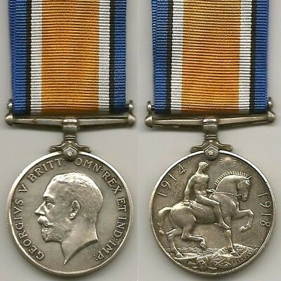 Wwi British War Medal To 4Th Tunnel Coy - Died Illness - 1917
