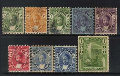 Zanzibar 1921-1929 Msca 9 Used Values Cat £29+
