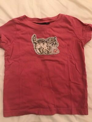 Mini boden 2-3 Girls Pink Cat T-shirt