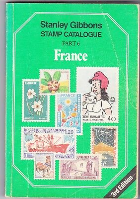 stanley gibbons stamp catalogue-    FRANCE -  PART 6  - 3RD EDITION
