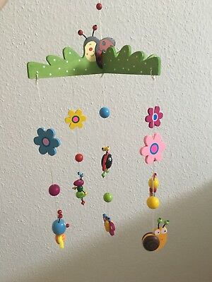 Mobile aus Holz, Holzmobile, Babymobile Tolle Geschenk Idee ! Mobile Bunt