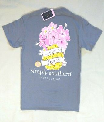 "NWT Simply Southern ""Live Simply Sweet"" Women's Sz Small T-Shirt- READ AD"