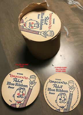 Pabst Blue Ribbon Beer Coaster - 1960's, Mint Hard To Find Rare Coaster Vintage