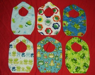 NEW cute Child BABY BIB cute FROGS  dragonfly 6 designs shipping discounts