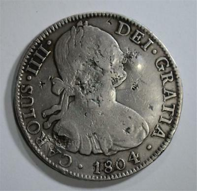 1804 MEXICO 8 REALES chopmarked