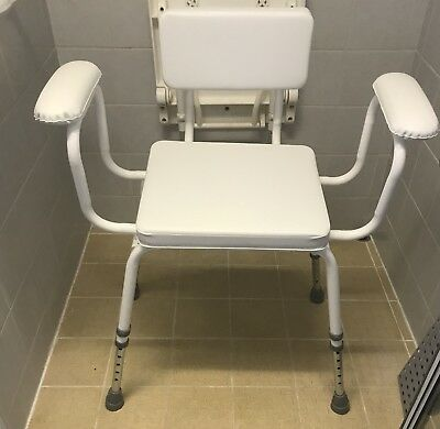Padded Perching Shower Stool  Disability Aid
