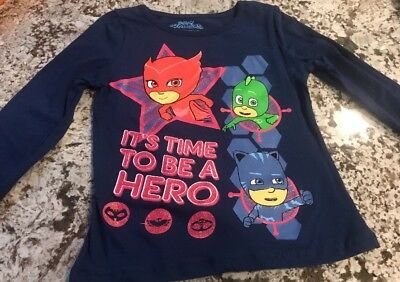 Nwt Toddler Girl Pj Masks Long Sleeve Shirt Size 3T