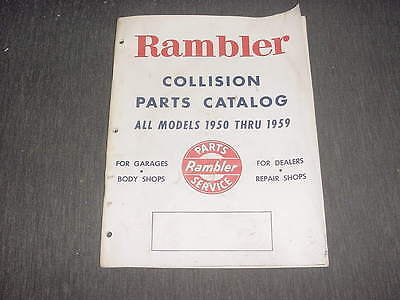 Rambler collision parts catalog 1959