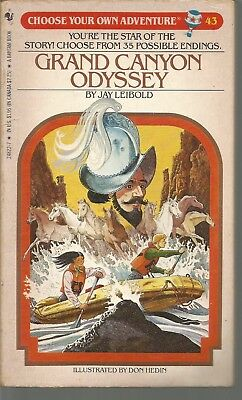 Choose Your Own Adventure 43 Grand Canyon Odyssey Jay Leibold PB 1985