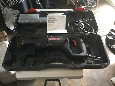 Craftsman variable speed reciprocating saw, blades, manual, carry case.