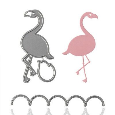 Flamingos Lace Wave Stencil Scrapbooking Cutting Dies Embossing Decor 8C