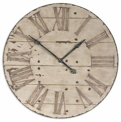 "Large 36"" Lanier Rustic Wood Wall Clock 
