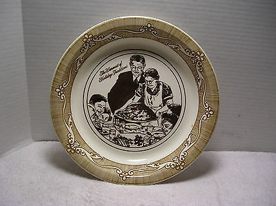 "Vintage 1983 Norman Rockwell  ""freedom From Want""   Pie Plate  10"""