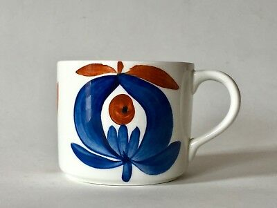 Vintage Rorstrand Pottery Polka Coffee Cup Marianne Westman Sweden c.1950/60 (A)