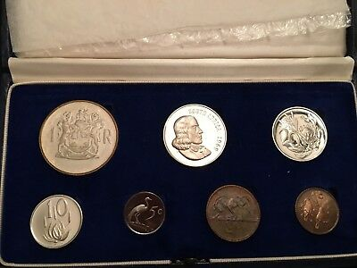 South Africa 1969 Short Proof Coin Set