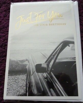 Happy Birthday Card*just For You*car Design*male*greeting