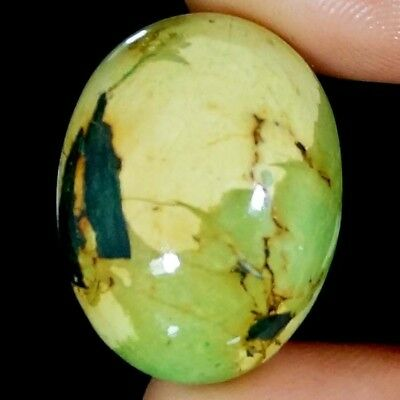 44.55 Cts. AAA NATURAL TIBET TURQUOISE OVAL CABOCHON LOOSE GEMSTONE ~23X30 MM~