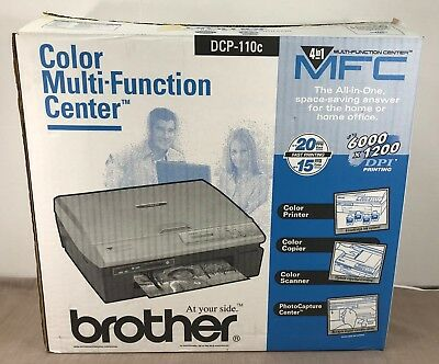 Brother Inkjet Printer Dcp-110C Never Used / Orig.box & Packing Missing 2 Inks