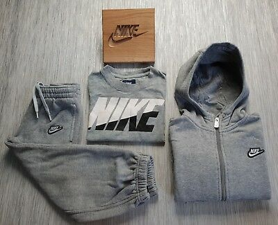 ⚡Genuine⚡ Boys Kids NIKE Full Tracksuit Hoodie Joggers Top Jacket Bottom AGE 4 5