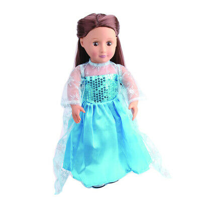 Pretty Blue Dress Outfit Clothes For 18 Inch American Girl My Life Doll #1