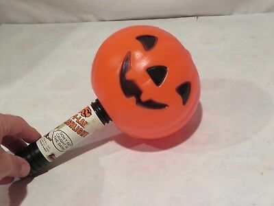 Blow Mold Halloween Jack-O-Lantern Flashlight Empire Vintage JOL Pumpkin (m532