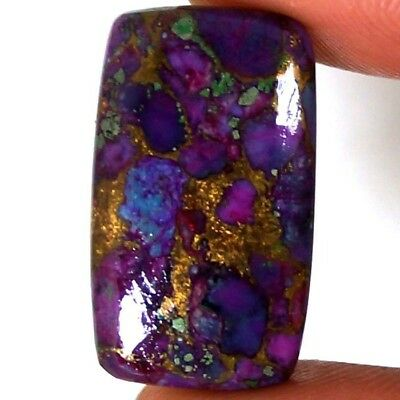 20.70Cts.Superior Natural Copper Purple Turquoise Cushion Cabochon Loose Gemston
