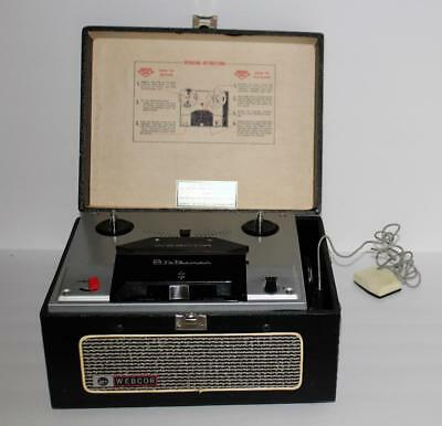 Vintage Webcor Statesman Reel to Reel Player Recorder Model EP2300-1