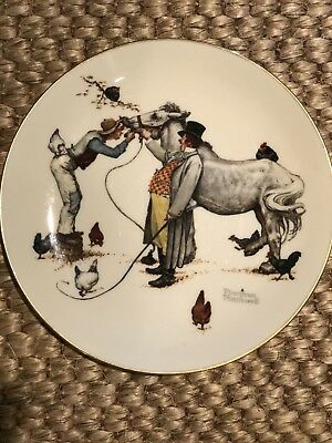 norman rockwell plate By gorham 'The Horse Trader'