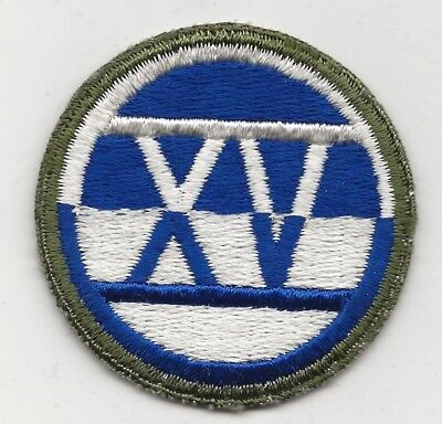 Rare Stone Mint Condition Old Style 15th US Army Corp XV Shoulder Patch