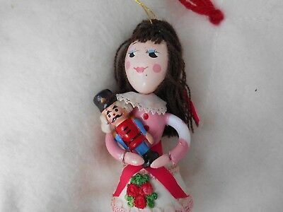 Vintage  Kurt Adler of NYC  Clara and the Nutcracker  Wooden Christmas  Ornament