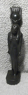 VINTAGE EGYPTIAN FIGURINE STATUE about 11.5ins