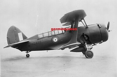 RAF,  CURTISS CLEVELAND,  AS468.,   LARGE 5x5   NEGATIVE & PHOTO   (506)