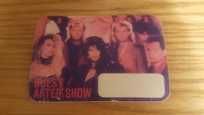 Vintage Genuine OTTO Heart  Cloth Backstage Pass GUEST AFTER SHOW UNUSED