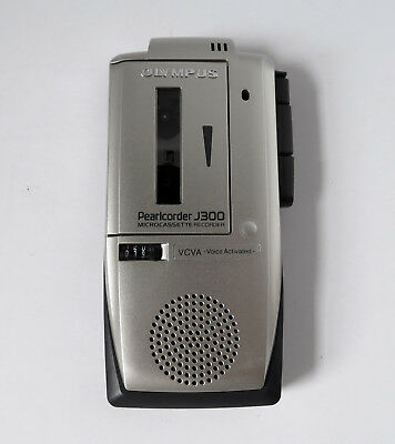 Olympus Pearlcorder J300 MicroCassette Handheld Voice Activated Recorder 2-Speed