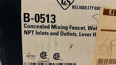 New Never Used T&s B-0513Concealed Mixing Faucet