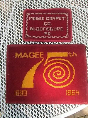 2 Carpet samples Magee Carpet Bloomsburg PA (including 75th anniversary sample)