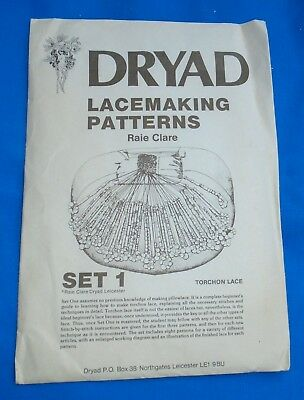 Dryad Lacemaking Patterns Set 1   Torchon Lace.     Complete Beginners Set